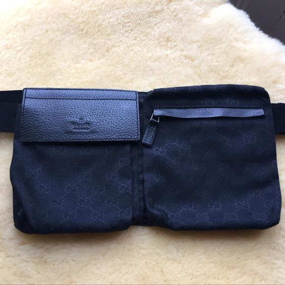 bd03f19c6a44 Gucci Bags | Monogram Gg Fanny Pack Belt Bag Black | Poshmark